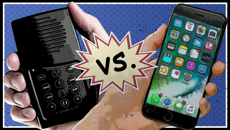 MegaVoice vs. Smartphone