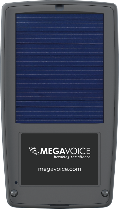 MegaVoice Audio Bible Solar Powered Envoy 2 E Series Back
