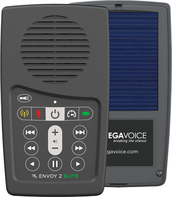 MegaVoice Audio Bible Solar Powered Envoy 2 Elite Front and Back