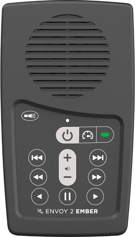 MegaVoice Audio Bible Solar Powered Envoy 2 Ember Front