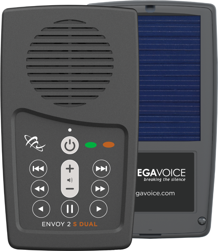 MegaVoice Audio Bible Solar Powered Envoy 2 S Dual Front Back