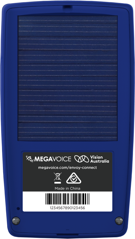 MegaVoice Audio Bible Solar Powered Envoy Connect Back