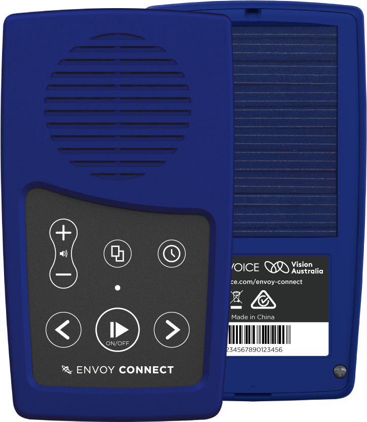 MegaVoice Audio Bible Solar Powered Envoy Connect Front and Back