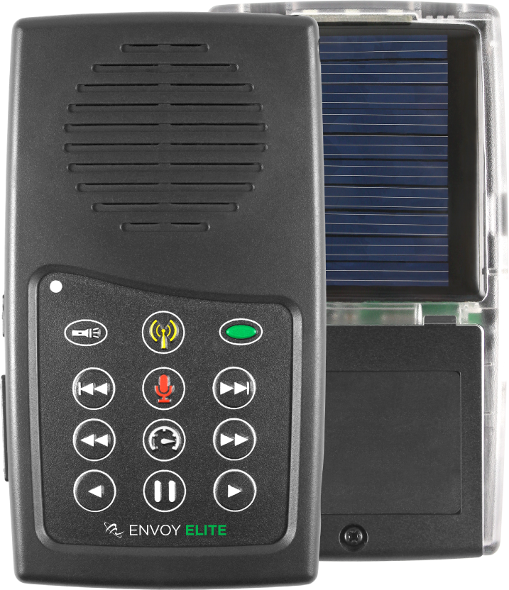 MegaVoice Audio Bible Solar Powered Envoy Elite Front Back