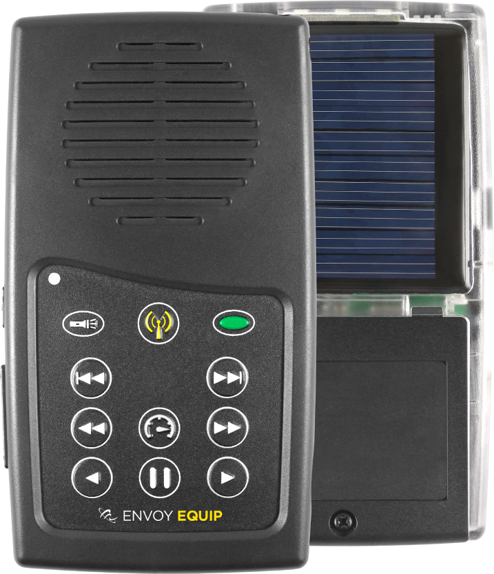 MegaVoice Audio Bible Solar Powered Envoy Equip Front Back