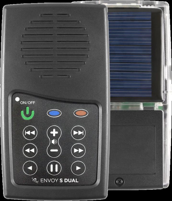 MegaVoice Audio Bible Solar Powered Envoy S Dual Front Back