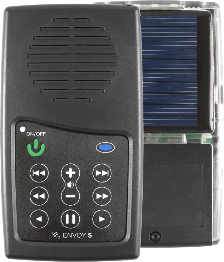 MegaVoice Audio Bible Solar Powered Envoy S Front Back