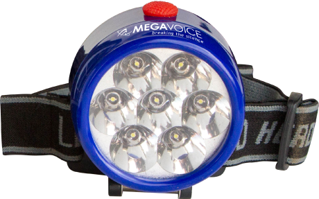 MegaVoice Audio Bible Solar Powered Head Lamp