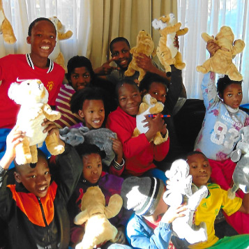Group Of Kids With Their Own Wildlife STORYTELLER Tigers, Elephants, and Bears - Each With An Audio Bible