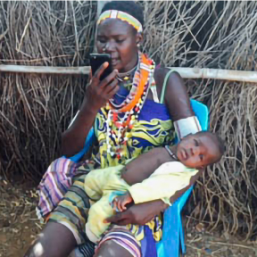 Toposa woman records a song she wrote